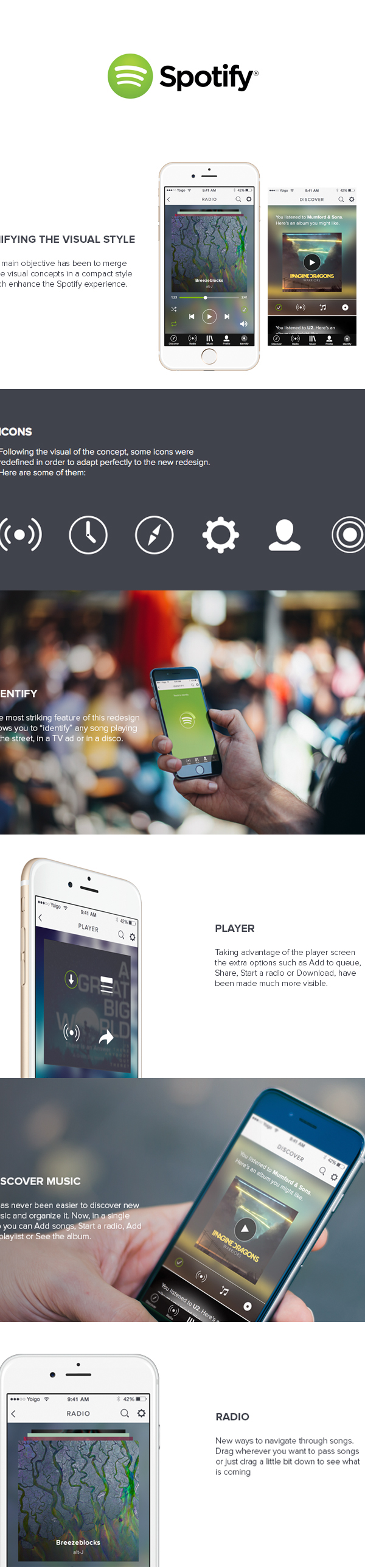 Spotify - Redesign on Behance
