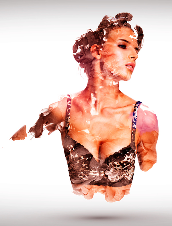 bustier sexy woman ink seveso colors paint Varnish smoke gold glamour lingerie autunm winter