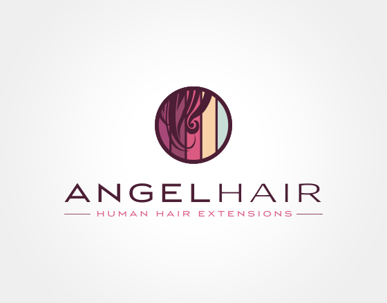Angel hair logo design on behance Angel logo design