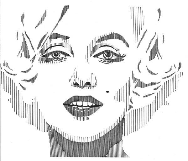 Vertical Line Art : Face line art on behance