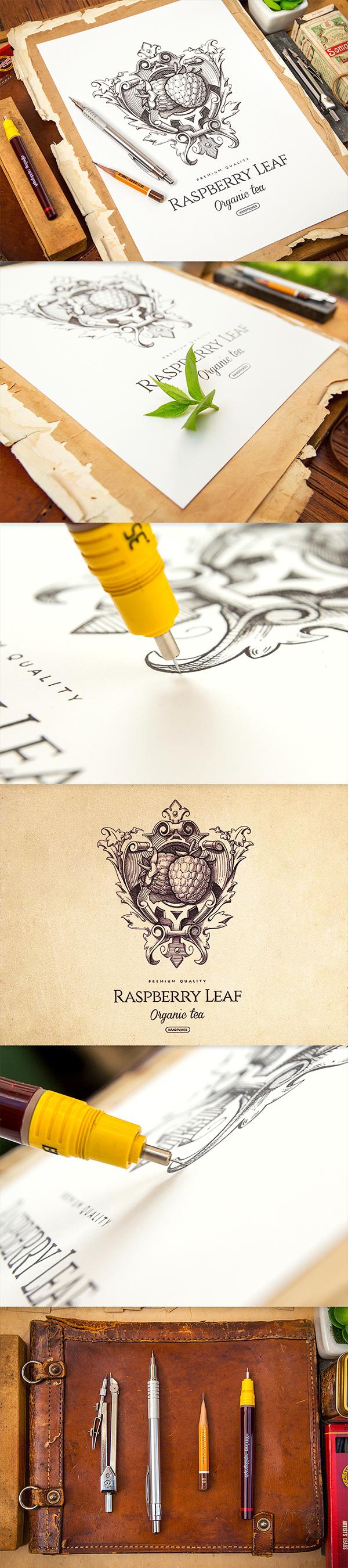 Logotype logo sketch wood leather paper pencil portfolio ID identity symbol Icon set