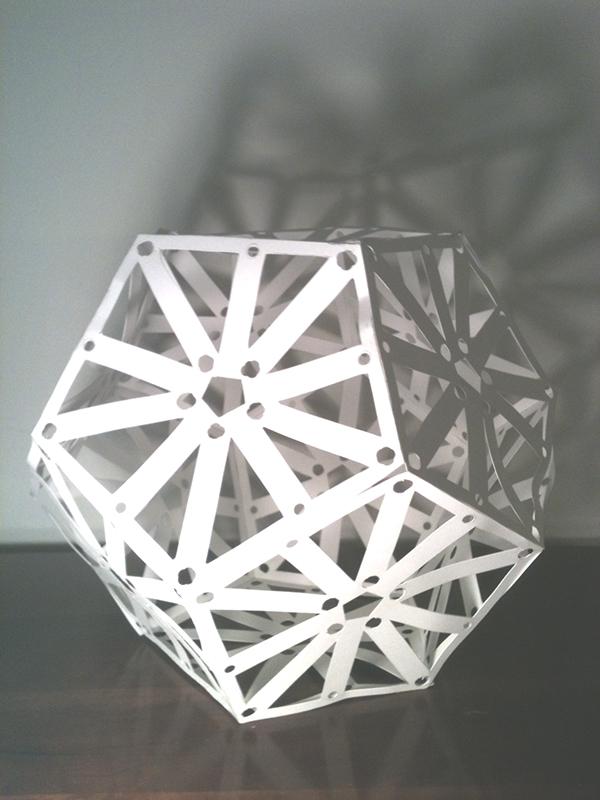 Paper sculptures models for lighting fixtures on risd portfolios - Paper light fixtures ...