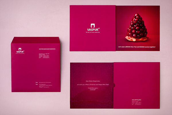 Corporate New Year card 2012 on Behance