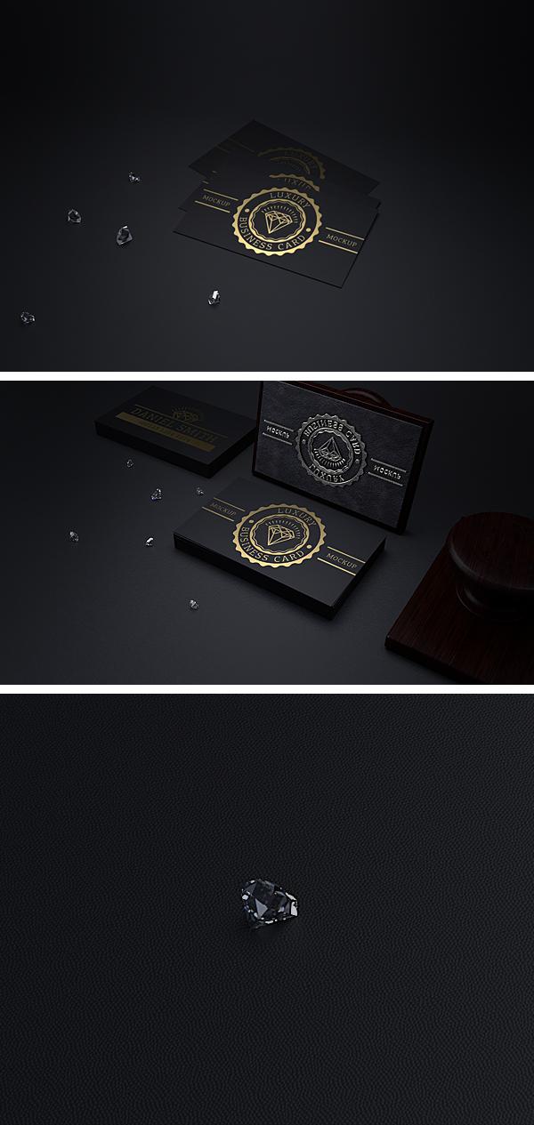 Black & Gold Business Card Mock-Up on Behance