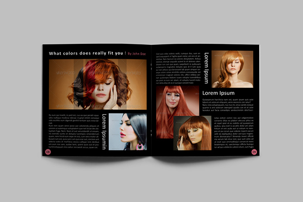 hair style catalog template on behance