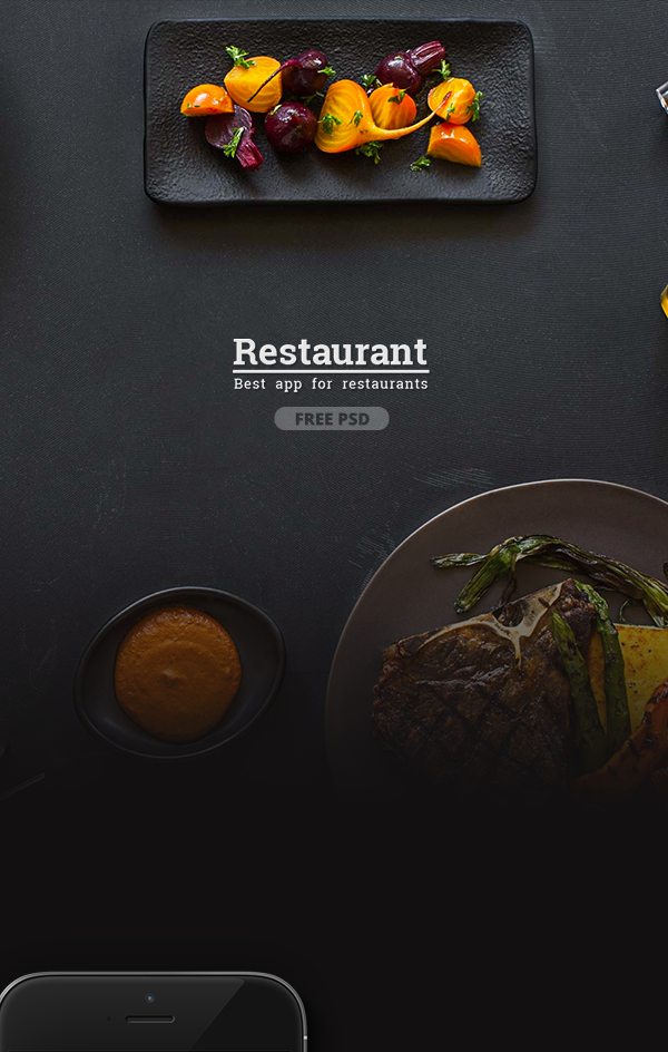 Restaurant app template on Student Show