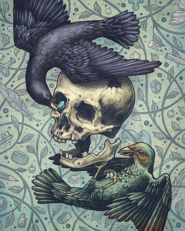 Bowerbirds by Kate O