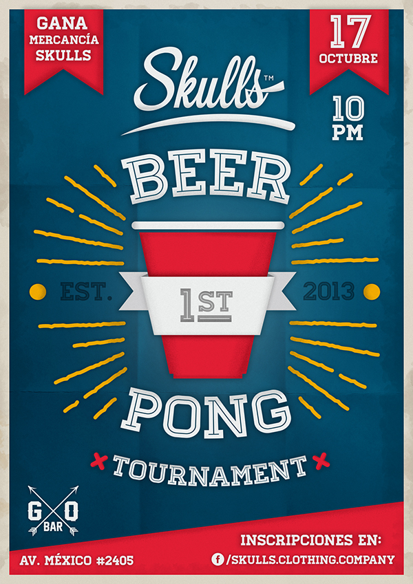 Beer Pong Tournament Poster On Behance