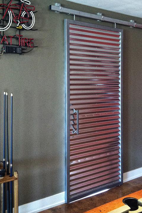 Game Room Corrugated Barn Door On Behance