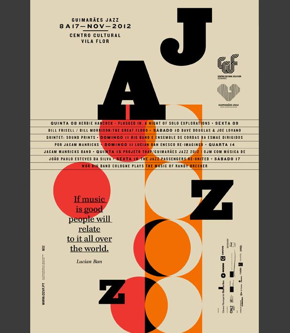jazz  Guimarães poster print martino&jaña  porto  Portugal  Europe  Oporto