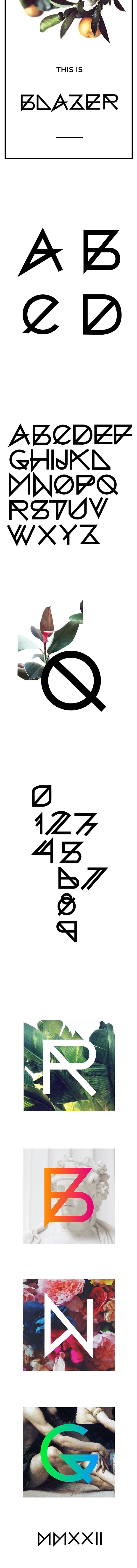 blazer font free freedom domenico ruffo geometric spring art poster