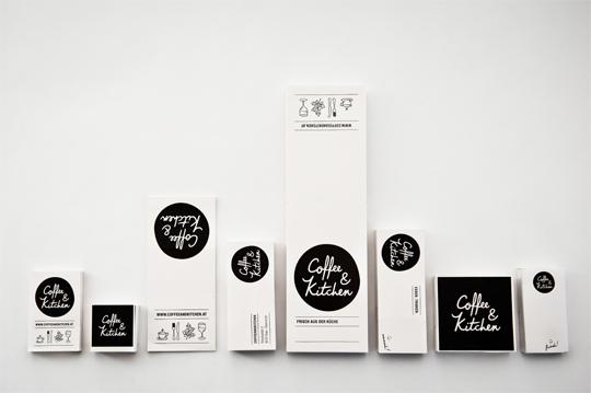 restaurant Coffee & Kitchen illustrations Corporate Design lettering