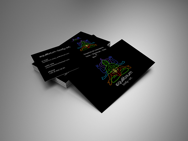 Business Card Equilibrium Body Art On Behance