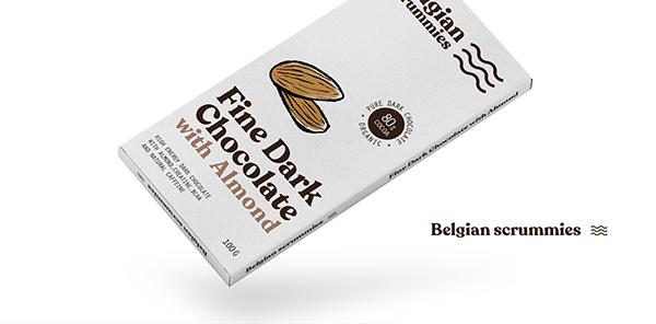 Chocolate Package design - For Belgian Scrummies