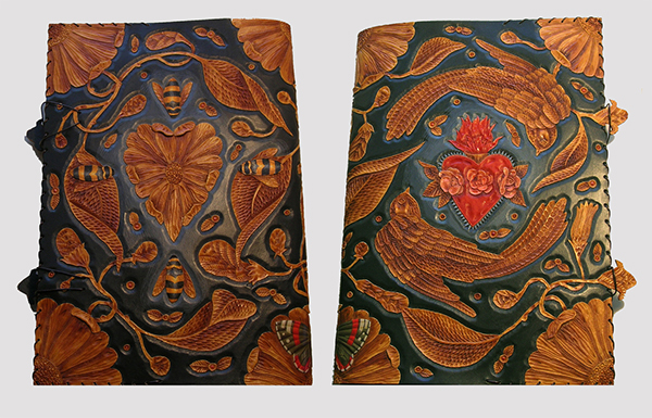 Hand carved leather journal covers on behance