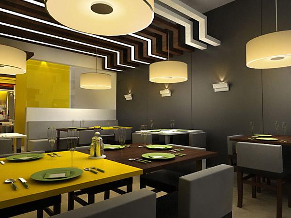 D restaurant design on behance