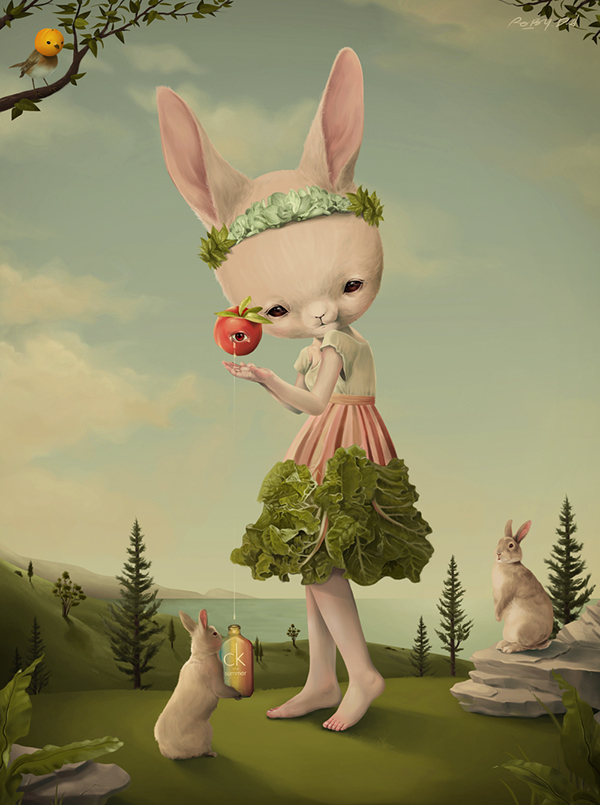 bunny child Nature Tree