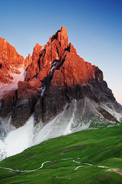 Dolomite Mountains Italy Bicycle Tourism Virtual