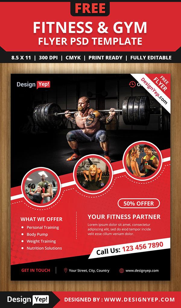Free Fitness  Gym Flyer Psd Template On Behance