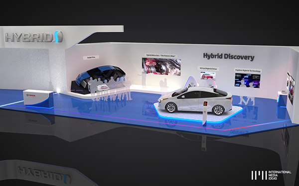 D Technology Exhibition : Toyota hybrid exhibition stand on pantone canvas gallery