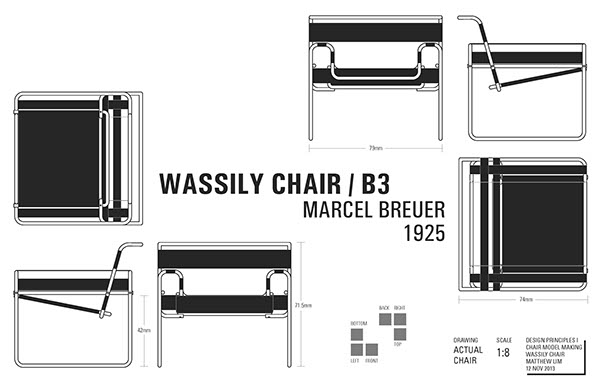 Wassily Chair ¼ Scale Model On Behance