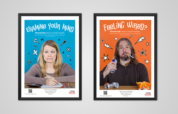 To Break The Stigma About Mental Health At University Posters Were Designed Be Playful Informal And Approach Situation In A Non Threatening Way