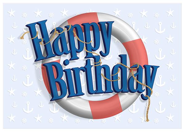 nautical birthday card on behance