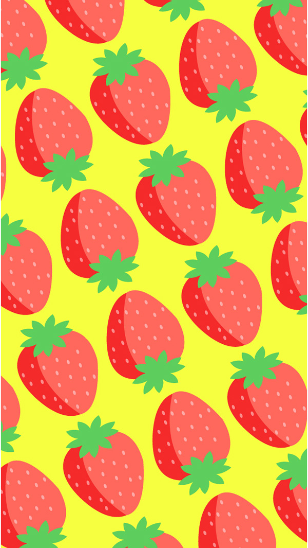 Strawberry Iphone Wallpaper On Behance