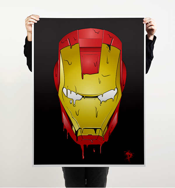 melting iron man mask - photo #6