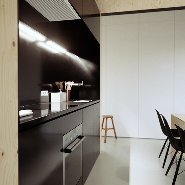 creative design kitchens karst house kitchen visualization on behance 3015