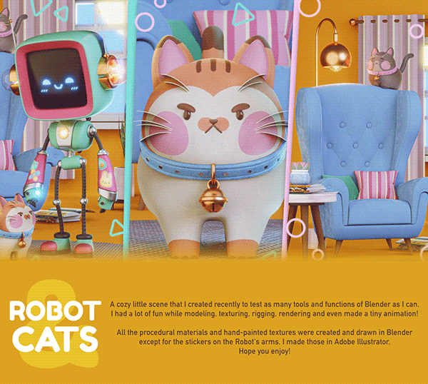 Robot and Cats