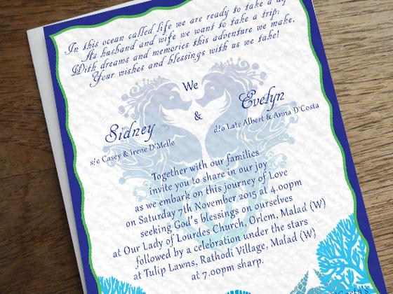 Ocean Themed Wedding Invitation On Student Show