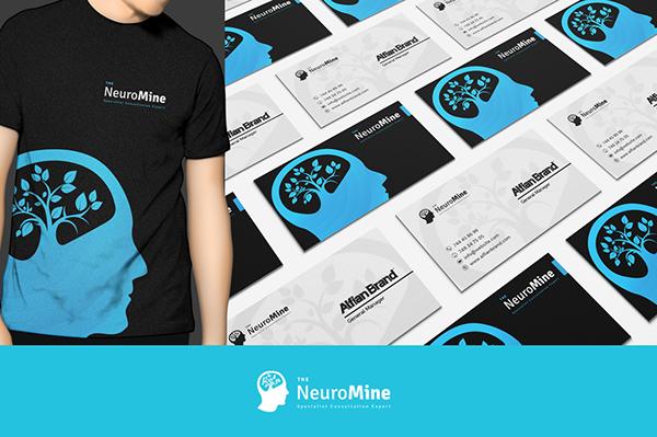 neuro mine logo on behance