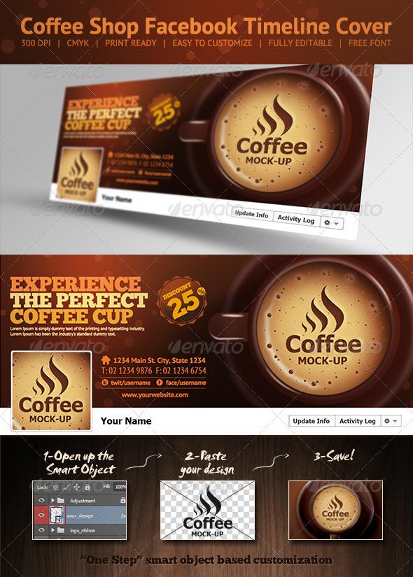 coffee shop facebook timeline cover on behance. Black Bedroom Furniture Sets. Home Design Ideas