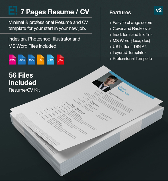 Resume Templ Word Resume  Cv  Curriculum Vitae   Pages On Behance Computer Programmer Resume with Levels Of Language Proficiency Resume Word Microsoft Word Version For Us Letter And Din A Docx And Doc  Pages  Template Customize Any Colour  Click Here To Download This Resume  Sample Of Job Resume Pdf