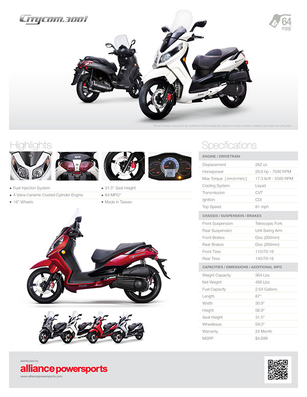 SYM Citycom 300i - Product Launch Campaign on Behance