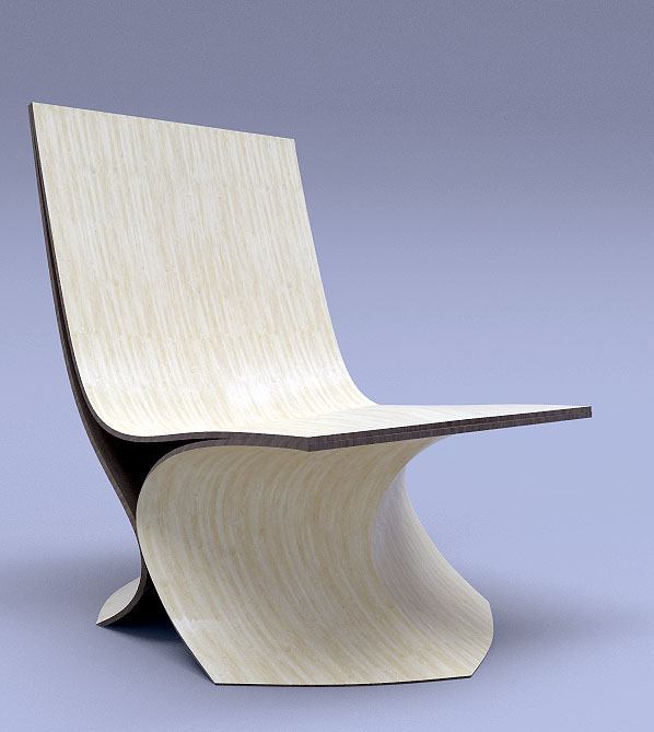 Contour Lounge chair wood on Behance