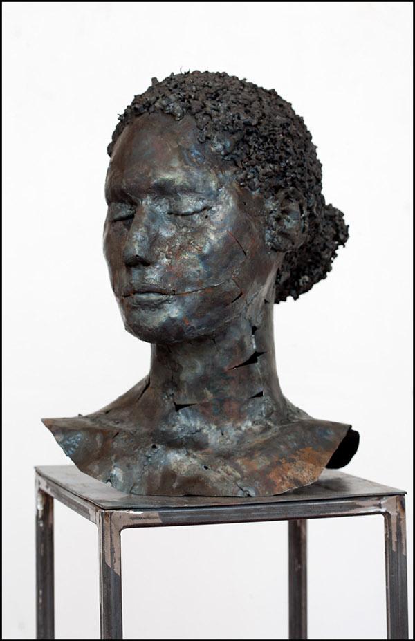 portraits in metal sculpture on behance