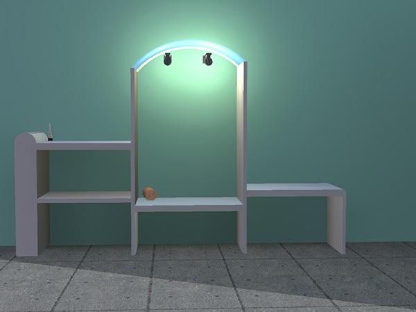 Création d\'un mobilier pour cabine de piscine. on Wacom Gallery