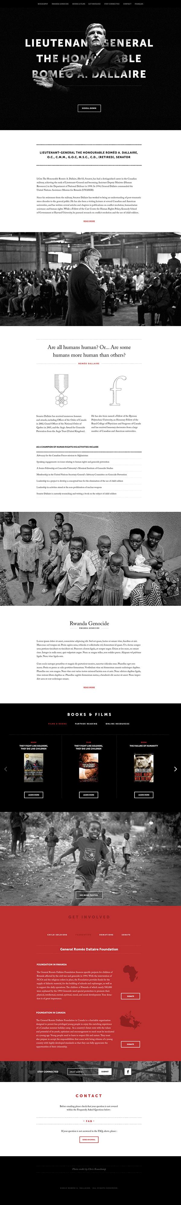 romeo dallaire Rwanda africa Humanitarian