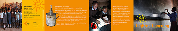 Lighter Learning Schools fundraising campaign africa solar power sunshine is free