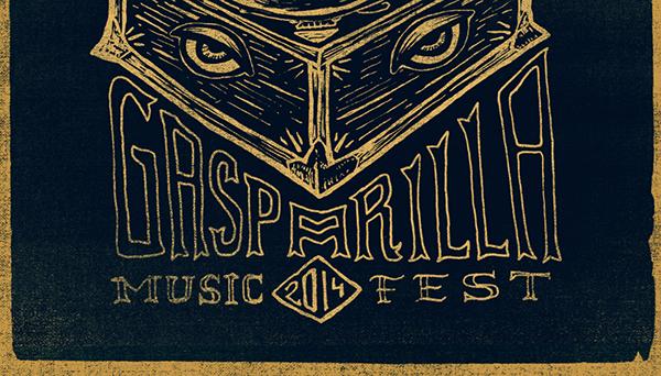 GMF Gasparilla Music Festival tampa Music Festival GigPoster handtype handletter florida
