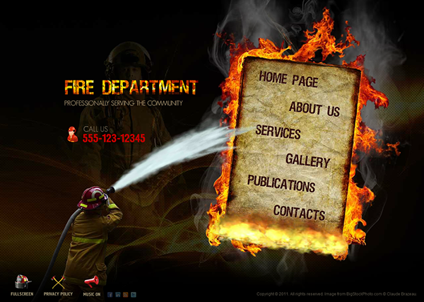 Fire Department Dynamic Flash Template On Behance