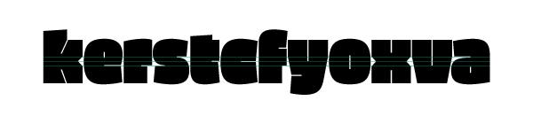 Typeface density font ultra black fat sans serif stencil Display Headline Ligatures