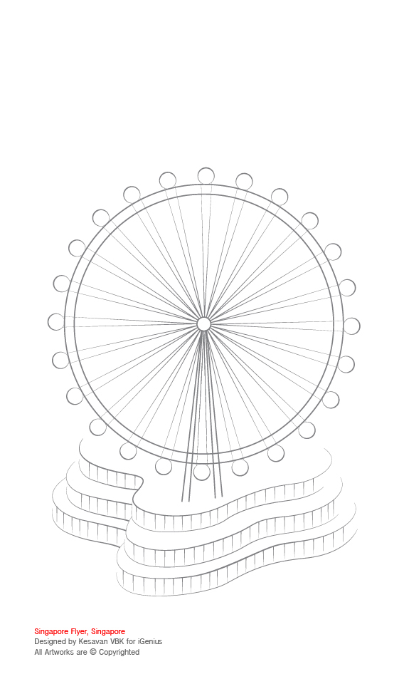 Singapore - Illustrated Colouring Activity on Behance