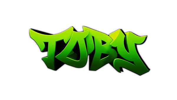 Project 12 Toby S Personal 3d Graffiti Logo On Wacom Gallery