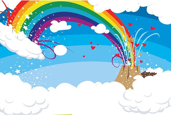 rainbow volcano  u0026 warped rainbow on behance