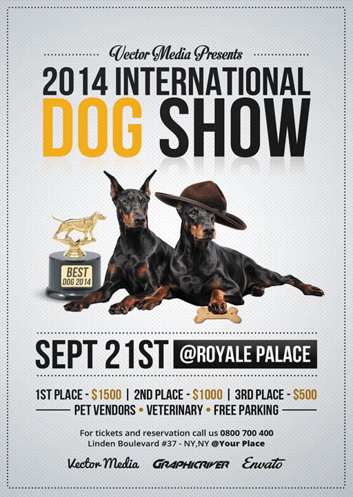 Dog Show Flyer On Behance
