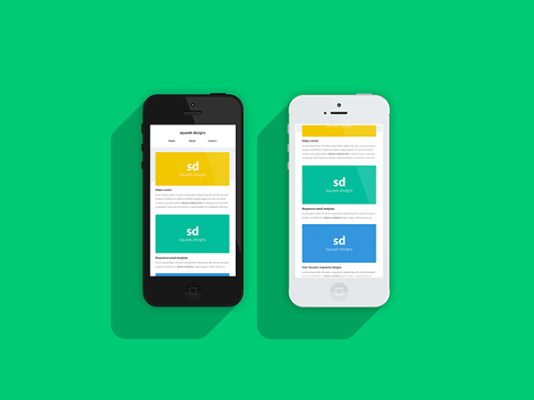 Flat Inspired Responsive Email Template Mockups On Behance