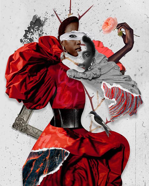 Alexander McQueen inspired fashion illustration